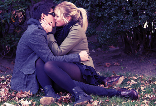 beautiful, blonde, boy, couple, cute, fashion, girl, kiss, men, photo, photography, sweet, woman