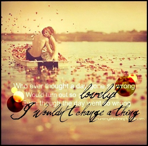beautiful, boat, boy, couple, dress, girl, happy, leaves, love, lovely, lyrics, ocean, petals, photography, pretty, quote, sea, sky, sunset, text, typography, words, wrong, youremysilverlining