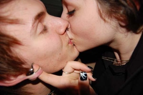 beautiful, body modification, brunette, colton, couple