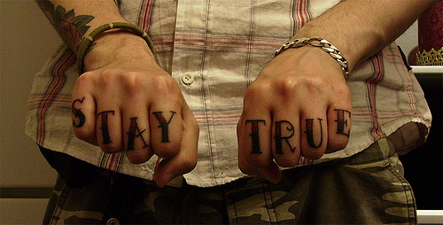 beautiful, cute, fashion, finger, finger tattoo, photo, photography, pretty, stay true, tattoo, true, type, typo, typography