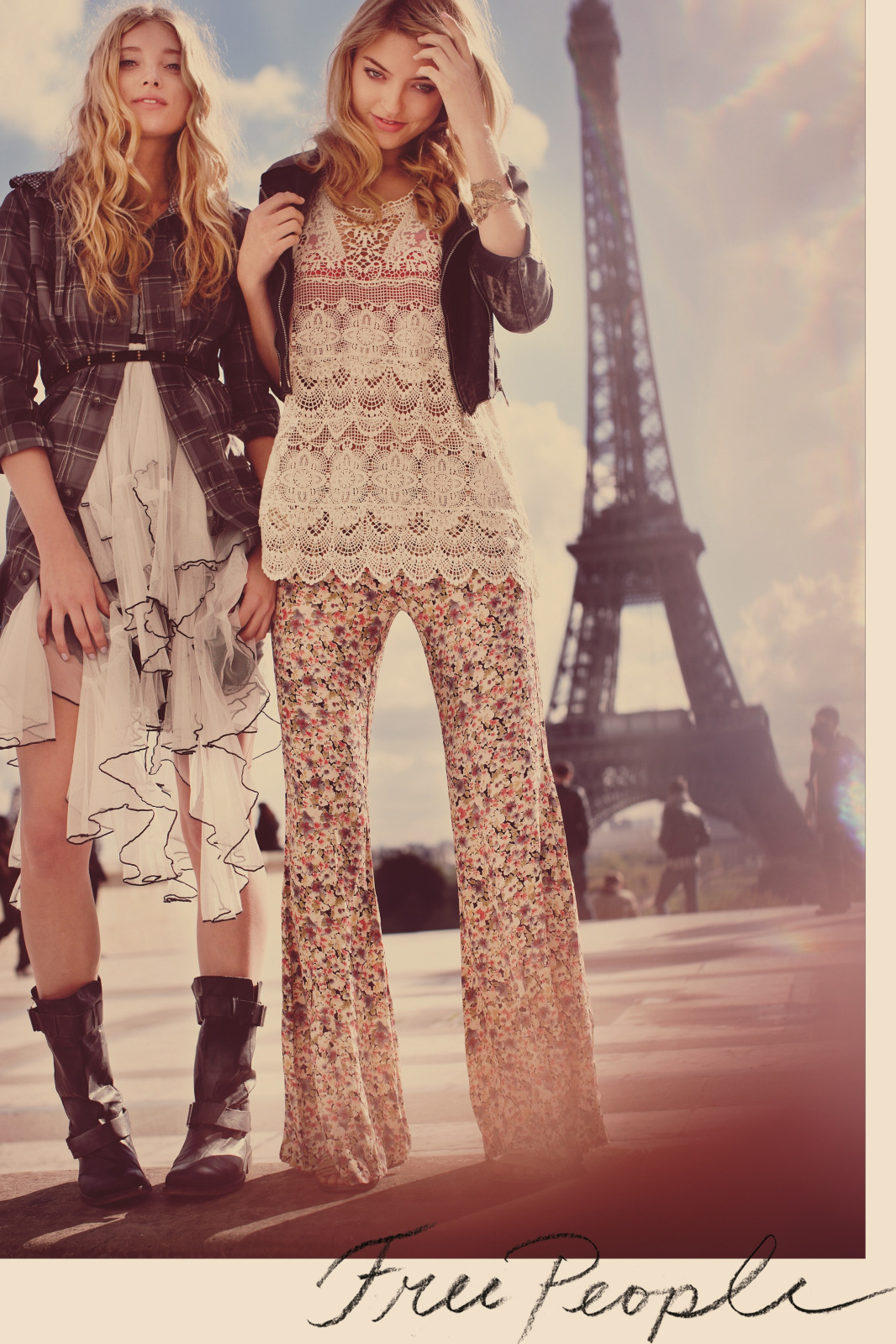 beauty, blonde, eiffel tower, fashion, france