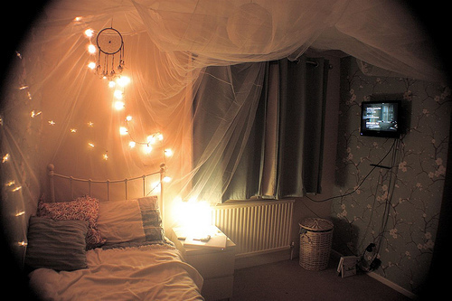 bed, bedroom, decor, dream, dream catcher