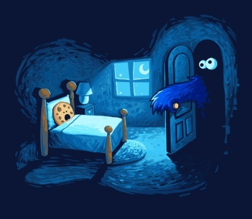 bed, blue, boogieman, closet, cookie