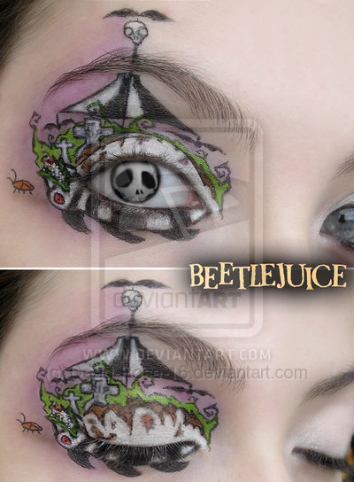beetlejuice, halloween, makeup, tim burton