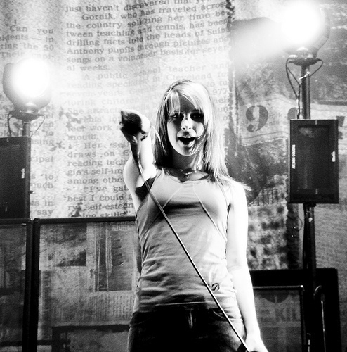 black and white, hayley, hayley williams, music, paramore