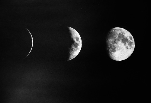 black and white, moon, nightsky, the moon