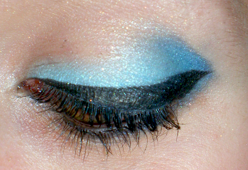 black eyeliner, blue, eye makeup, eyelashes, eyes