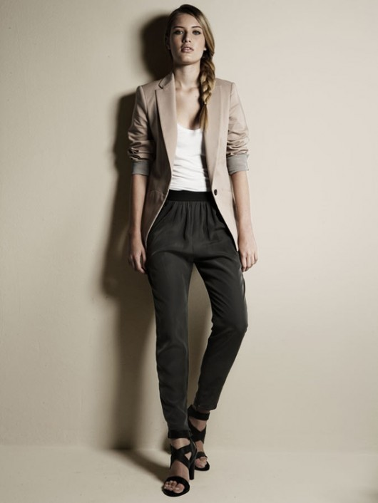 blazer, braid, fashion, girl, hair, heels, model, pants, shoes, style