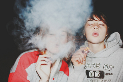 blow, blowing, blowing smoke, friends, girls 