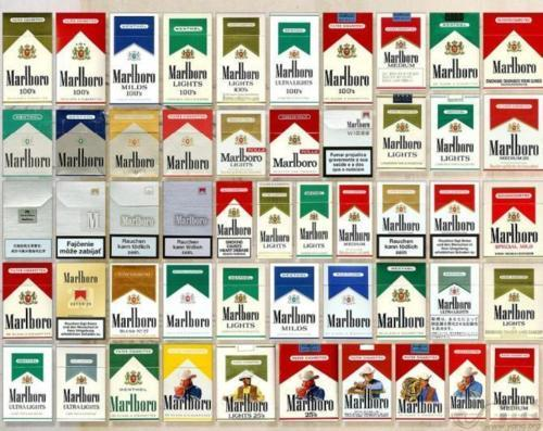 blue, cigarette, gold, green, marlboro