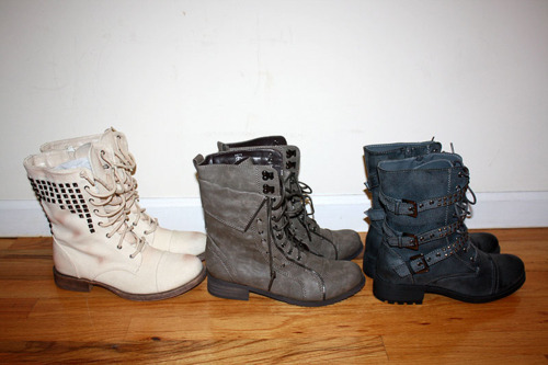 boots, fashion, lace up boots, laced, studded