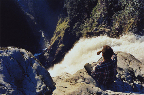 boy, cute, fashion, sexy, waterfall