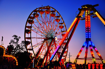 carnival, colorful, ferris wheel, lights, pretty