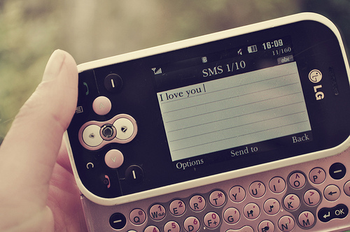 cell, cellphone, finger, i love you, lg