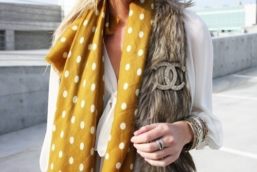chanel, dots, fur, girl, ring
