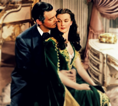 clark gable, classic, classy, gone with the wind, kiss