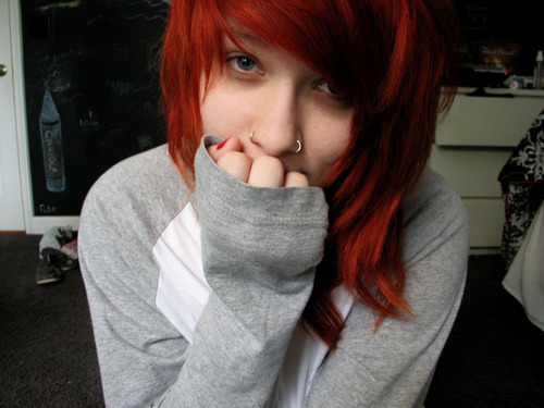 colors, cute, girl, girrl, hair, pretty, redhair
