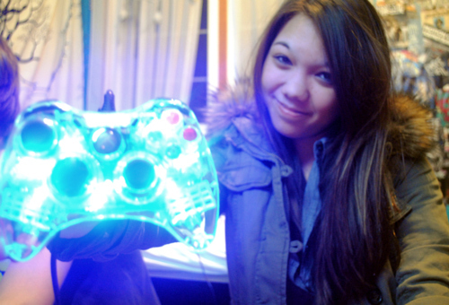 controller, cute, game, girl, mira