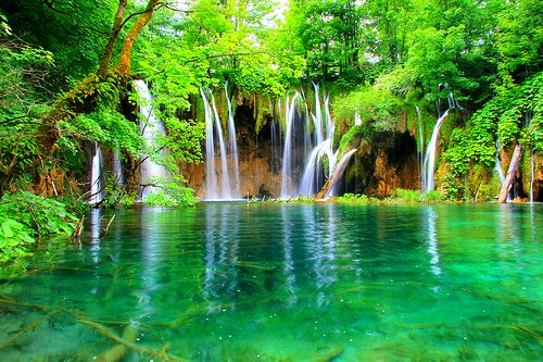 croatia, green, peace, place, plitvice