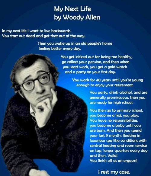 cute, quote, text, woody allen