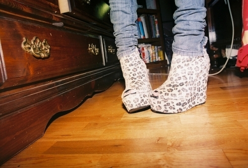 denim, fashion, jeans, leopard, shoes