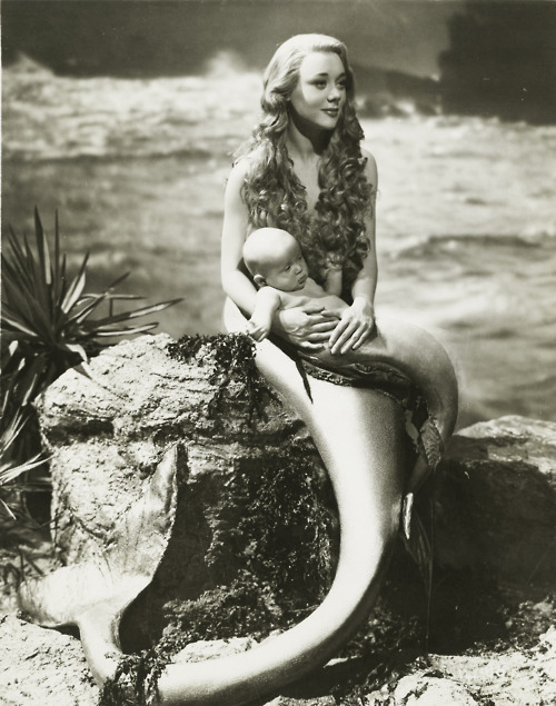 fantasy, glynis johns, mermaid, miranda, movies, vintage