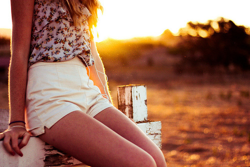 fashion, floral, girl, shorts, skinny