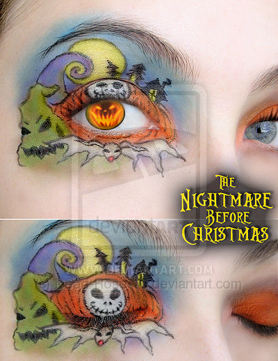 fashion, halloween, makeup, nightmare before christmas, the nightmare before christmas