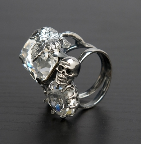 fashion, photography, ring and skull