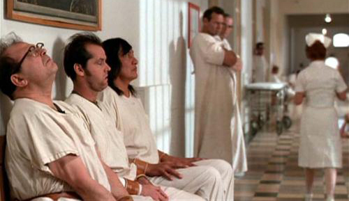 hospital, jack nicholson, mcmurphy, mental, mental hospital