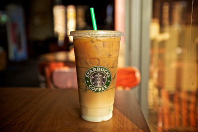 iced coffee, starbucks, yumy