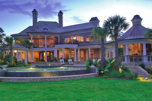 luxury, mansion, pool
