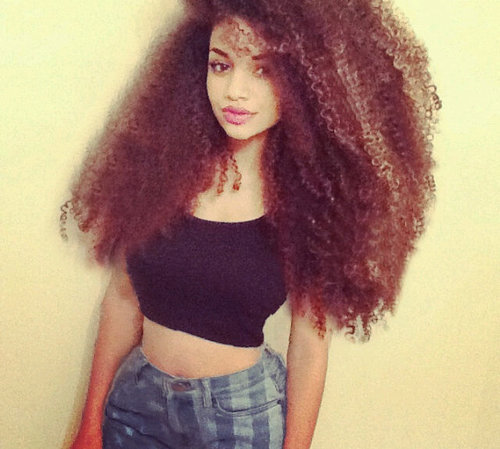 Curly hair swag via tumblr image 2360271 by maria d Big and natural tumblr