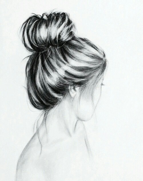 Hair bun image 2393251 by saaabrina on for Simple black and white drawing ideas