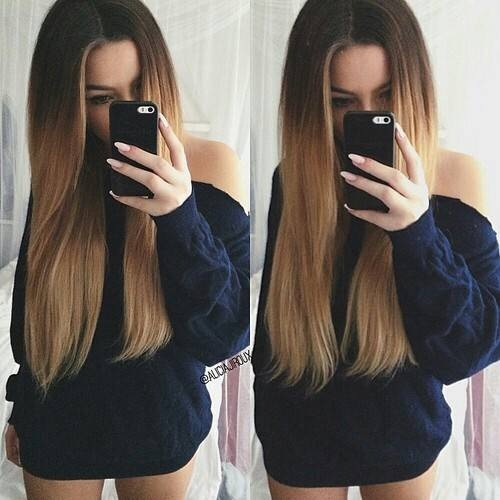 ... , cute, fashion, girl, hair, long hair, not me, ombre, pretty, selfie