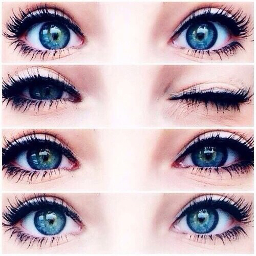 blue eyes eyelashes eyes gorgeous make up teens