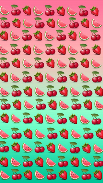 background, cherries, emoji, fruit, red, strawberries ...