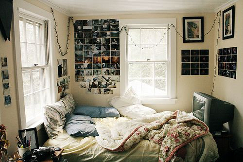 Bed bedroom decor diy fashion girl hipster indie image 2534860 by taraa on - Hipster zimmer ...