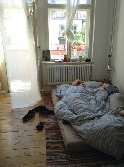bed chill grunge pale sheets summer sunday white