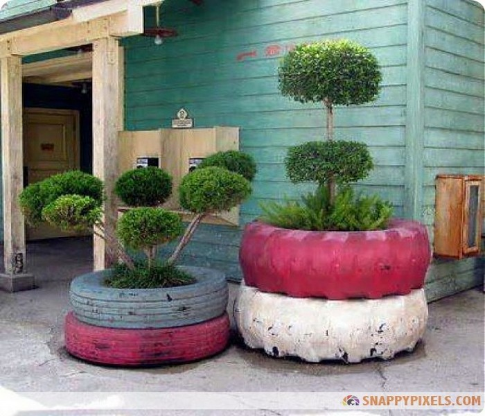 Recycled Crafts, DIY Recycled Tires, Old Tires Designs and Recycled Tires Crafts