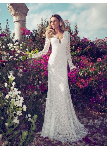 long sleeve wedding dresses 2015  JASMINE BRIDAL