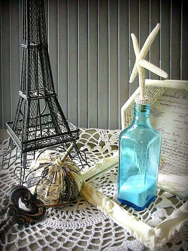 Awesome idea glass bottles recycling for coastal and for Recycled home decorations