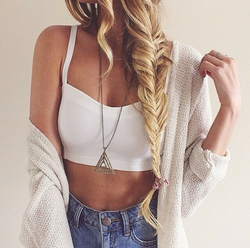 accessories, blond, blonde, bohemian, boho, braid, clothes, clothing, crop top, curls, curly hair, fashion, girl, girly, hairstyle, hippie, indie, jeans, jewelry, long hair, look, outfit, perfect, style, stylish, summer, tan, tanned, top, wear