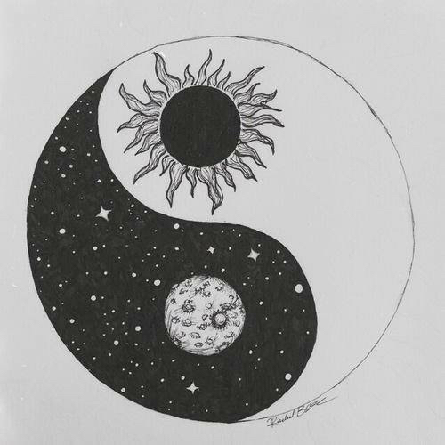 Draw moon stars sun yin yang image 2668520 by for How to draw a perfect star shape