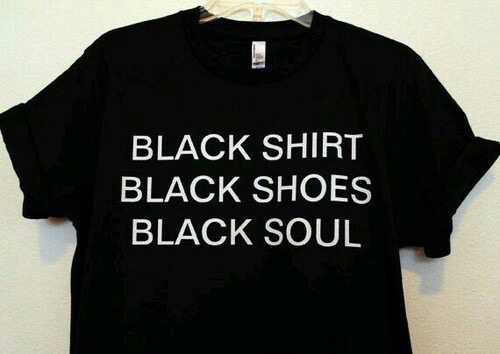 black, shirt, shoes and soul