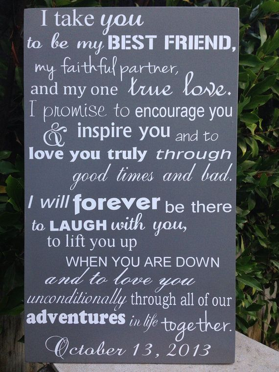 Romantic Wedding Vows Examples For Her And For