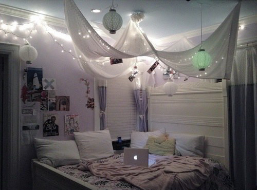 Amazing bedroom cute dark inspiration light night for Hipster zimmer