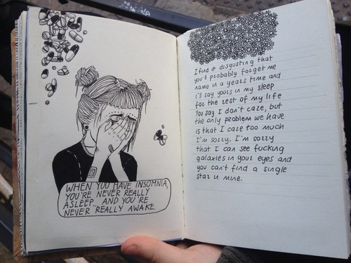 drawing, grunge, pale, quote, sad, tumblr - image #2722610 ...