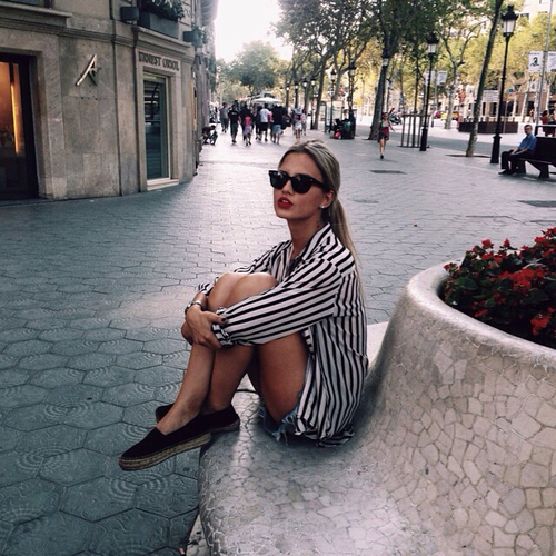 blonde, city, clothes and europe