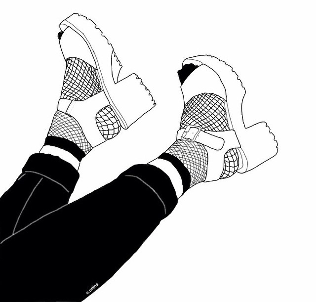 how to draw girl shoes
